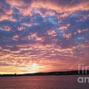 Sunset Over The Narrows Waterway Art Print
