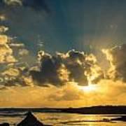 Sunset Over The Ocean Iv Art Print