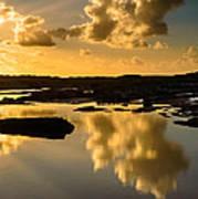 Sunset Over The Ocean V Art Print