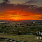 Sunset Over The Valley Art Print by Robert Bales
