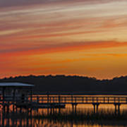 Sunset Over The Wando River Art Print