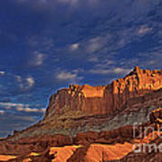 Sunset Over The Waterpocket Fold Capitol Reef National Park Art Print