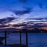 Sunset Over The Waterway Art Print