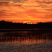 Sunset Over Tiny Marsh Art Print