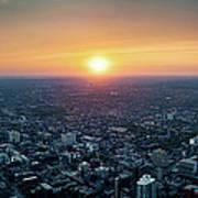 Sunset Over Toronto Downtown City Art Print