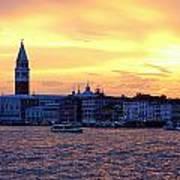 Sunset Over Venice Art Print