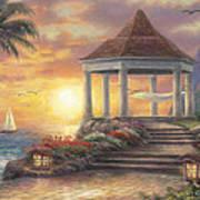 Sunset Overlook Art Print by Chuck Pinson