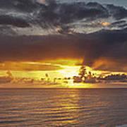 Sunset Panorama Art Print by Andrew Soundarajan