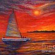 Sunset Passion Art Print