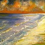 Sunset Passion At Cranes Beach Art Print