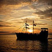 Sunset Pirate Cruise Art Print