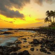 Sunset, Poipu, Kauai, Hawaii, Usa Art Print