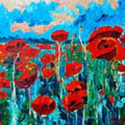 Sunset Poppies Art Print