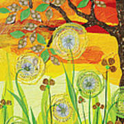 Sunset Quail Art Print