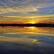 Sunset Riverlands West Alton Mo Dsc03329 Art Print