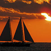 Key West Sunset Sail 3 Art Print