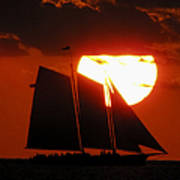 Key West Sunset Sail 5 Art Print