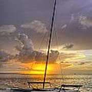 Sunset Sailboat Vertical Art Print