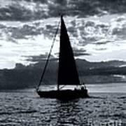 Sunset Sailing -2 Art Print