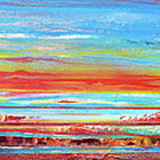 Sunset Series Druridge Bay 1c Art Print by Mike   Bell
