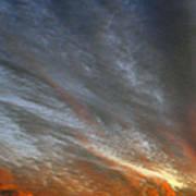 Sunset Sky With Cirrocumulus Clouds Usa Art Print