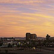 Sunset Skyline Phoenix Az Usa Art Print