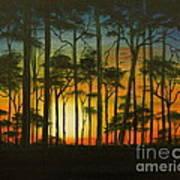 Sunset Over St. Joseph's Peninsula Art Print