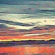 Davis Bay Sunset  Art Print