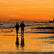 Sunset Stroll Art Print by Al Powell Photography USA