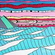 Sunset Surf Art Print by Susan Claire