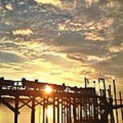 Sunset Through Pier Art Print