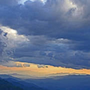 Sunset Under The Clouds Art Print