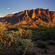 Sunset View Of The Superstitions  Art Print