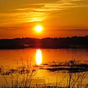 Sunset Walk In The Water Art Print