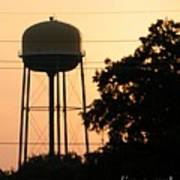 Sunset Water Tower Art Print