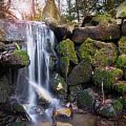 Sunset Waterfalls In Marlay Park Art Print