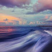 Sunset Wave. Maldives Art Print