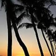Sunset West Coast Of Maui Art Print