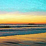 Sunset With Birds Art Print