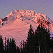 Sunsetting On Mount Hood Oregon 1 Art Print