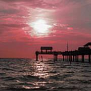 Sunsetting On The Gulf Art Print