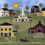 Sunshine And Dasies Art Print