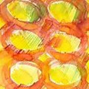 Sunshine Circles Art Print