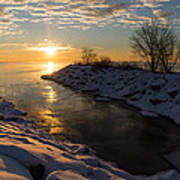 Sunshine On The Ice - Lake Ontario Toronto Canada Art Print
