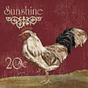 Sunshine Rooster Art Print
