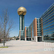 Sunsphere Knoxville Tn Art Print