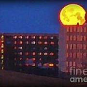 Super Moon In Halifax Nova Scotia Art Print