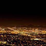 Super Moon Over Phoenix Arizona  Art Print