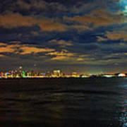 Super Moon Over San Diego 1 Art Print