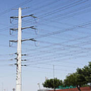 Super Power Pole And Wires Art Print